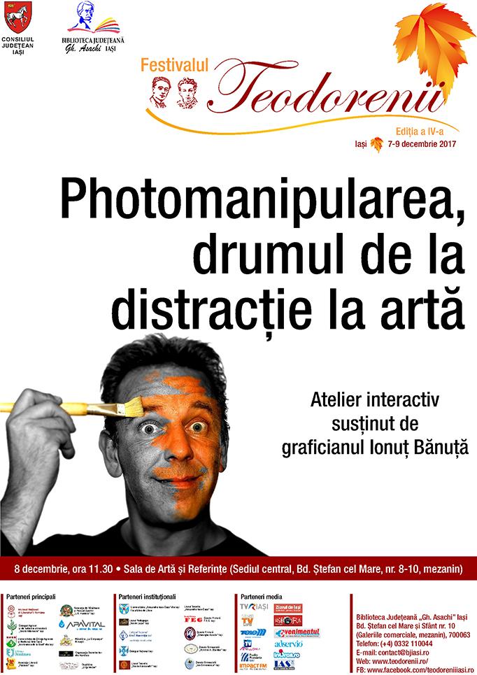 """""""Photomanipularea, drumul de la distracție la artă"""", atelier interactiv susținut de Ionuț Bănuță"""