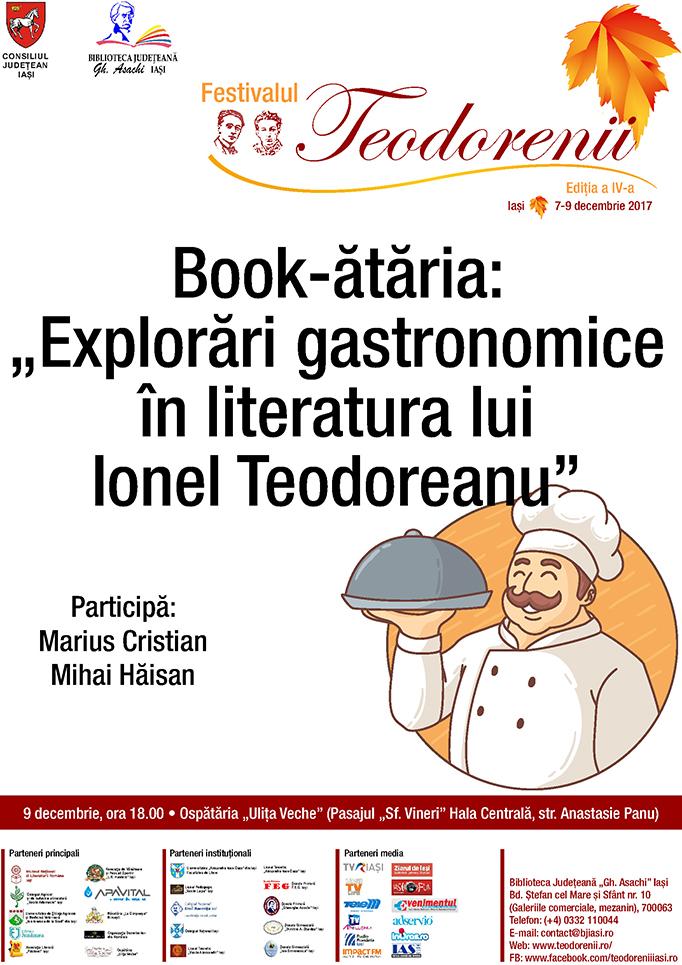 """Book-ătăria:""""Explorări gastronomice în literatura lui Ionel Teodoreanu"""""""