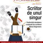 """""""Scriitor de unul singur"""": conferință-dezbatere susținută de scriitorul Dănuț Ungureanu"""