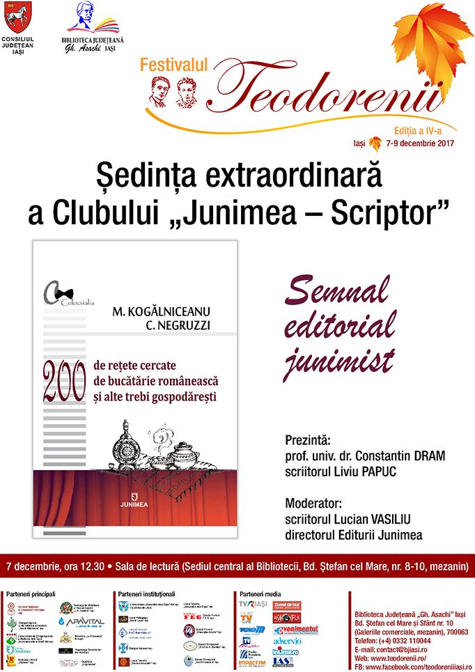 """Ședința extraordinară a Clubului """"Junimea-Scriptor"""""""